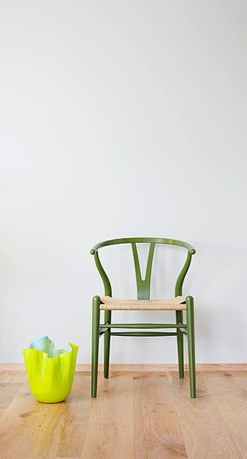 stool green Hans Wegner
