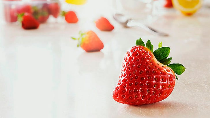 strawberry in heart shape