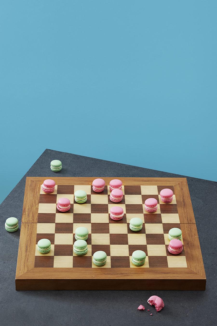 schach mit macarons